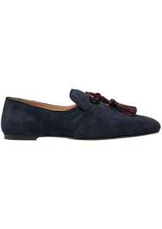 J.crew Woman Tasseled Suede Loafers Indigo