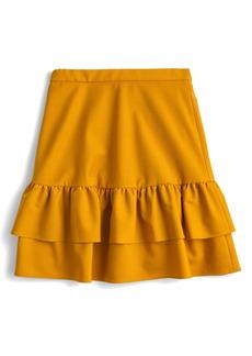 J.Crew Wool Flannel Ruffle Skirt (Regular & Petite)