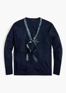 J.Crew X Abigail Borg tie-neck sweater