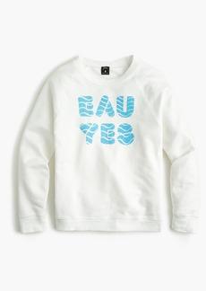 "J.Crew x charity: water ""Eau Yes"" crewneck sweatshirt"