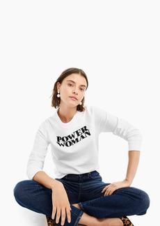 "J.Crew X prinkshop ""Power Woman"" sweatshirt"