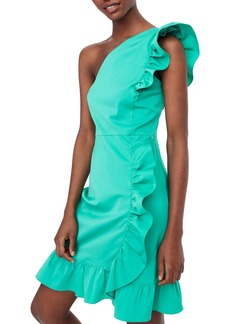 J.Crew Yass One-Shoulder Ruffle Dress