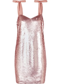 Yokners paillette-embellished tulle mini dress