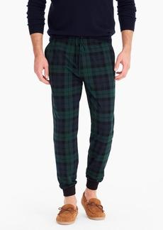 J.Crew Jersey pajama pant in Black Watch tartan