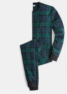J.Crew Jersey union suit in Black Watch tartan