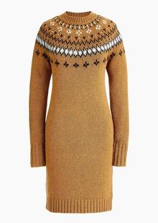 J.Crew Jewel-embellished Fair Isle crewneck sweater dress
