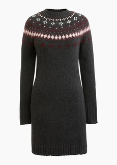 J.Crew Jewel-embellished Fair Isle crewneck sweater dress