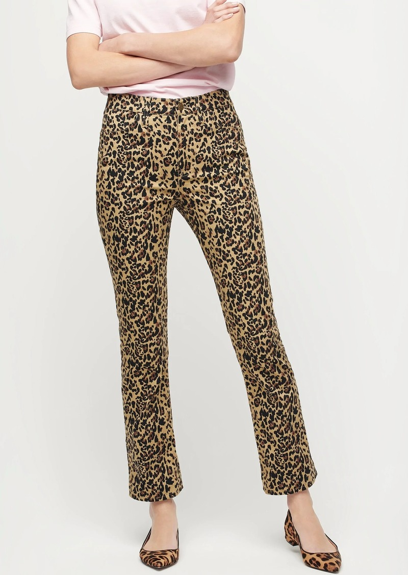 J.Crew Kickout crop pant in leopard print