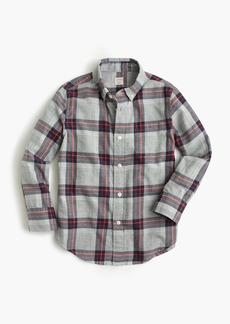 J.Crew Kids' lightweight flannel shirt in grey plaid