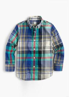 J.Crew Kids' lightweight flannel shirt in multicolored plaid