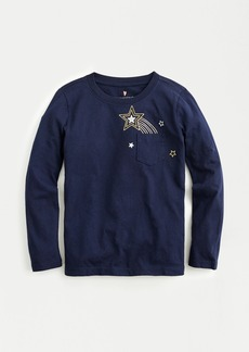 J.Crew Kids' long-sleeve shooting star pocket T-shirt