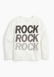 "J.Crew Kids' ""rock"" T-shirt"