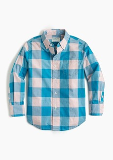 J.Crew Kids' Secret Wash shirt in buffalo plaid