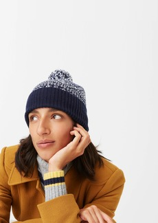J.Crew Knit beanie in navy Fair Isle