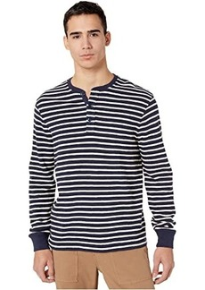 J.Crew Knit Henley in Textured Stripe