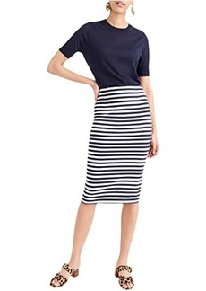 J.Crew Knit Pencil Skirt in Stripe