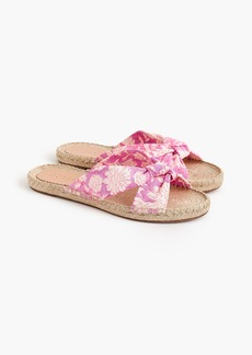 J.Crew Knotted espadrille slides in SZ Blockprints™ floral