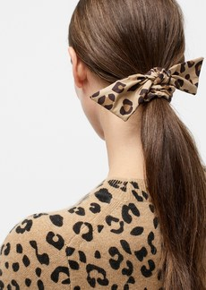 J.Crew Knotted hair tie in leopard