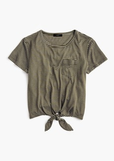 J.Crew Knotted pocket T-shirt in stripes