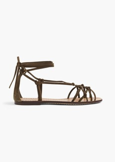 Knotted suede sandals