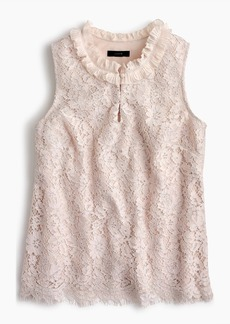 J.Crew Lace ruffle-neck top