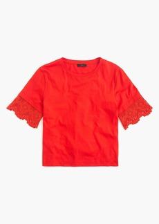 J.Crew Lace-sleeve T-shirt