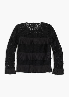 J.Crew Lace top with pleats