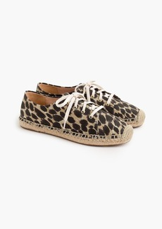 J.Crew Lace-up espadrilles in leopard