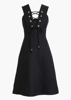 J.Crew Lace-up linen dress