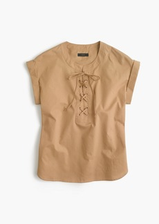 J.Crew Lace-up popover