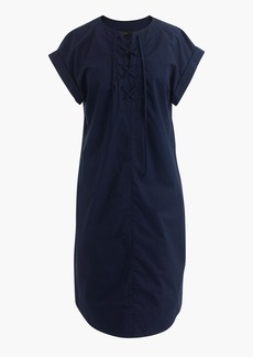 J.Crew Tall lace-up shirtdress
