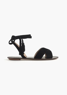 J.Crew Lace-up suede sandals