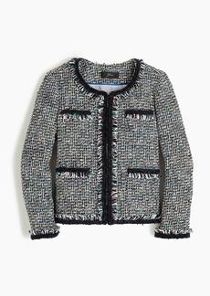 J.Crew Lady jacket in multicolor metallic tweed with braided trim