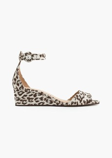 J.Crew Laila wedges in leopard print