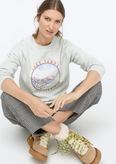 J.Crew Lake Tahoe fleece pullover sweatshirt