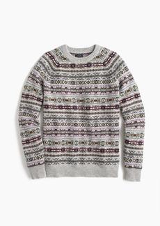 J.Crew Lambswool crewneck sweater in Fair Isle