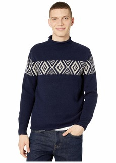 J.Crew Lambswool Rollneck™ Sweater with Jacquard Stripe