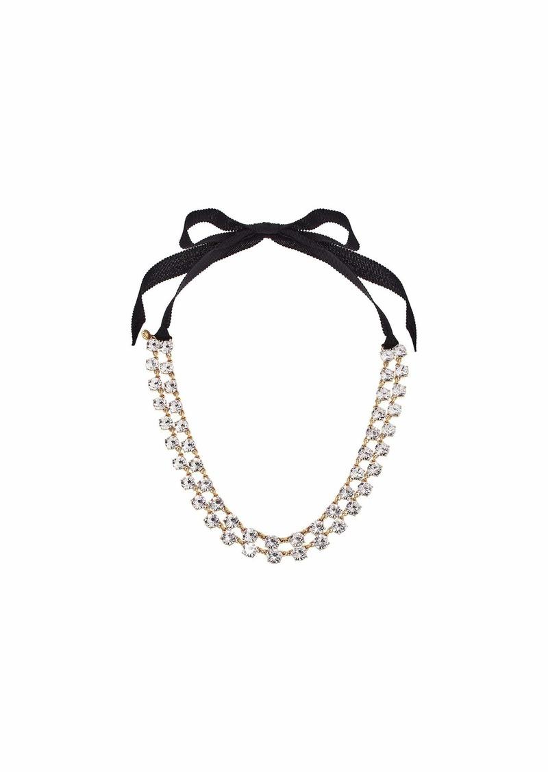 J.Crew Layered Sparkle Tie Necklace
