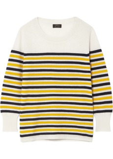 J.Crew Layla Striped Cashmere Sweater