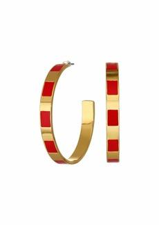 J.Crew Leah Enamel Stripe Hoop Earrings