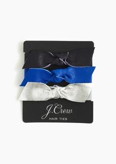 J.Crew Leather bow hair ties