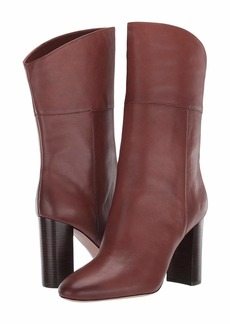 J.Crew Leather Mid-Calf Stacked Anya Boot