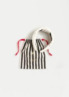 Lele Sadoughi X J.Crew ivory velvet knot headband with pearls