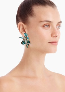 Lele Sadoughi X J.Crew Lily earrings with crystal detail