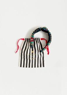 Lele Sadoughi X J.Crew knot headband in Stewart tartan with gold studs