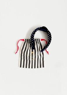 Lele Sadoughi X J.Crew navy velvet knot headband with pearls