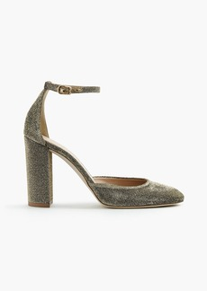 J.Crew Lena ankle-strap pumps in glitter