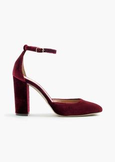 J.Crew Lena ankle-strap pumps in velvet