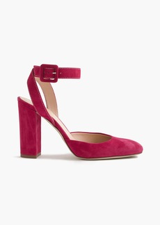 J.Crew Lena ankle-wrap pumps in suede