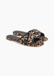 J.Crew Leopard Cora crisscross sandals